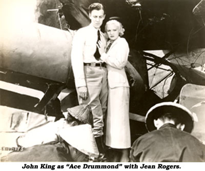 "John King as ""Ace Drummond"" with Jean Rogers."