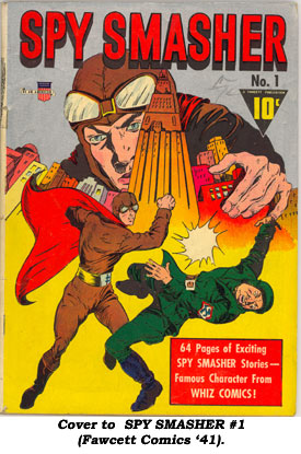 Cover to SPY SMASHER #1 (Fawcett Comics '41).