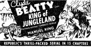 "Ad for ""King of Jungleland""."