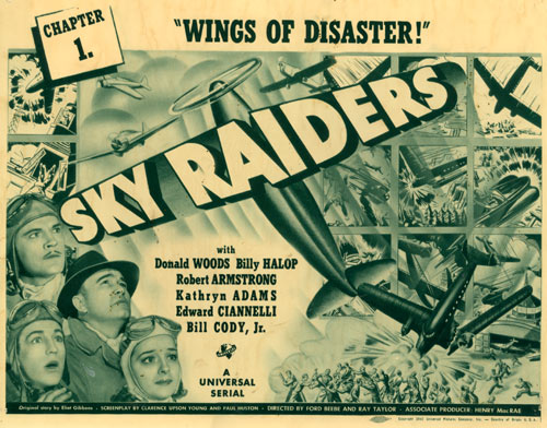 "Title card for Chapter 1 of ""Sky Raiders""."