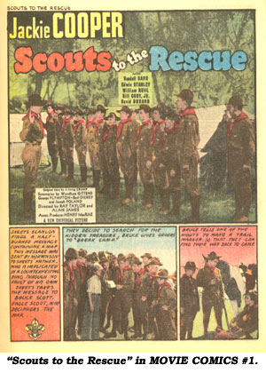 """Scouts to the Rescue"" in MOVIE COMICS #1."