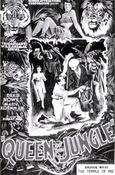 "Poster for ""Queen of the Jungle""."