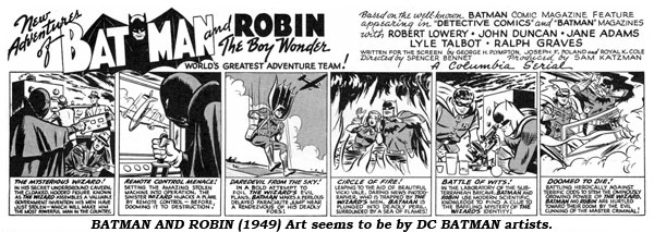 Batman (1949) Art seems to be by DC Batman artists.