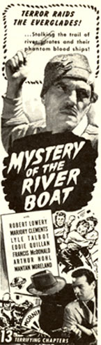 """Mystery of the Riverboat"" ad."