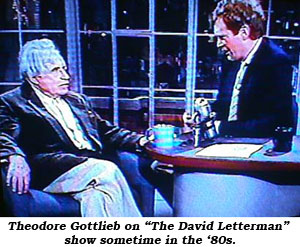 "Theodore Gottlieb on ""The David Letterman"" show sometime in the '70s."