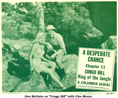 "Don McGuire as Congo Bill with Cleon Moore in Chapter 11 of ""Congo Bill""."
