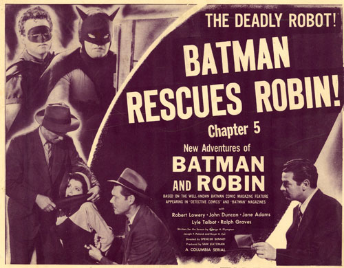 "Title card for ""Batman and Robin"" Chpter 5."
