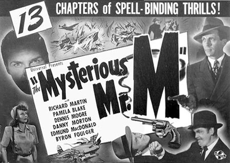 "Title card for ""The Mysterious Mr. M"" ('46)."
