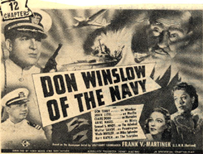 "Newspaper ad for ""Don Winslow of the Navy""."