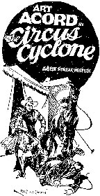 "Art Acord in ""Circus Cyclone""."