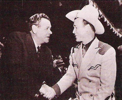 Babe Ruth with Roy Rogers.