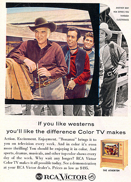 "RCA gave us a color ""Bonanza"" in 1959."