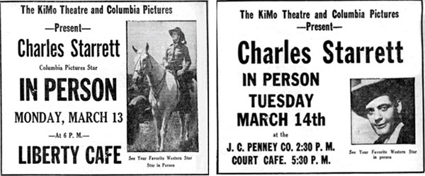 Newspaper ads from 3/13/39.