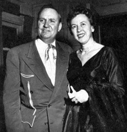 Mr. and Mrs. Autry...Gene and Ina out for dinner at the Mocambo in 1957.