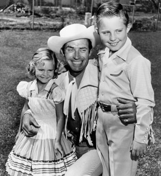 Jocko with his young step-daughter Sally Field and her brother Richard.