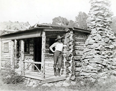 Tim McCoy at his Eagle Nest Ranch near Thermopolis, WY in 1927.  (Photo courtesy Elijah Cobb.)