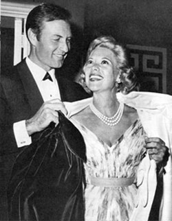 """Cimarron City""—George Montgomery and wife Dinah Shore."