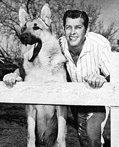 """Adventures of Rin Tin Tin""—James Brown and Rinty."