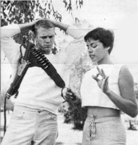 """Wanted Dead or Alive""—Steve McQueen and wife Neile."
