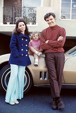 """Bonanza""—David ""Candy"" Canary with wife Julie and daughter Lisa  in the late '60s."