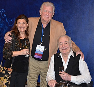 """Outlaws"", ""High Chaparral""—Don Collier and good friends Lauren  and Henry Darrow."
