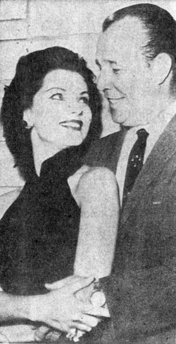 Actress Debra Paget, 27, and director Budd Boetticher, 44, were married March 28, 1960 in a Tiajuana, Mexico cafe. After three weeks of marriage Debra moved out of their apartment into her mother's apartment following a quarrel with Budd. Their divorce became final on August 24, 1961.