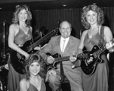 Gene Autry performs with the Jensen Sisters (probably in the early '80s).