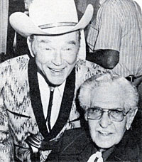 Roy Rogers and Bob Steele at a honorarium for Steele in L.A. in August 1986.