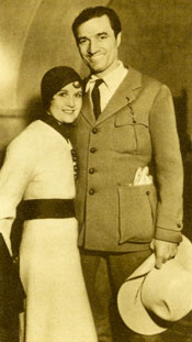 Wedding photo of Tom Mix and his bride Mabel Ward. The couple were married February 15, 1932 in Mexicali, Mexico by a retired general of the Mexican army.