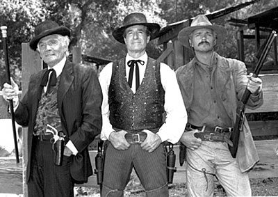 "Gene Barry and Hugh O'Brian reprised their roles as Bat Masterson and Wyatt Earp for an episode of ""Paradise"" with Lee Horsley."