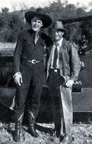 Ken Maynard beside producer/director Harry Joe Brown. Brown produced and/or directed many of Ken's late '20s- early '30s westerns at First National and Universal. Brown later produced over 100 films, notably in conjunction with Randolph Scott  from '47-'60.