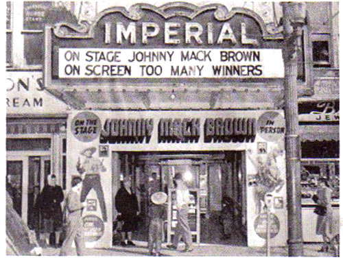 Johnny Mack Brown in person at the Imperial Theater in Greensboro, NC, 1947.