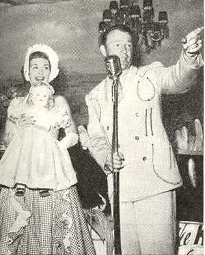 Jane Wyman and Roy Rogers at a 1950 benefit for visually handicapped children.