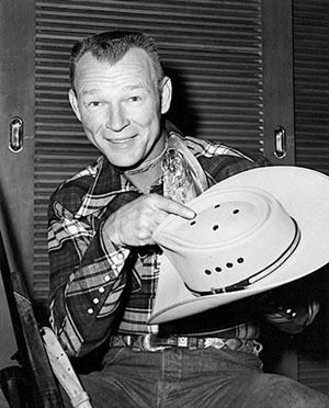 Roy Rogers with his one of his hunting hats.