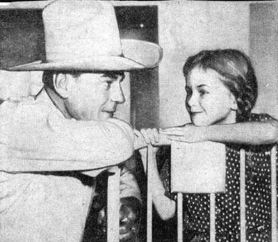 The last photo taken of Buck Jones only hours before he was fatally burned in the tragic Cocoanut Grove fire in Boston November 28, 1942. This photo was taken when Jones visited the Children's Hospital in Boston.