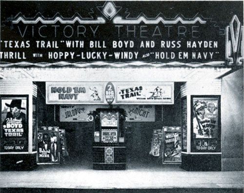 Ahhhhhhh...the good ol' days at the Victory Theatre in San Jose, CA, in 1937.