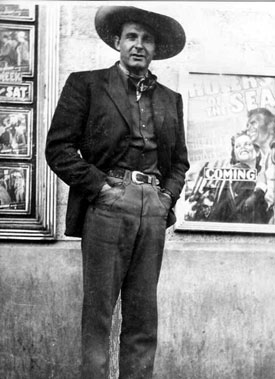 "Ray ""Crash"" Corrigan visits the State Theatre in Thomasville, NC, in 1939. Corrigan was then a member of The Three Mesquiteers. (Thanx to Bobby Copeland.)"