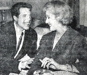 Robert Horton with British theatre actress Margaret Leighton. (Photo courtesy Terry Cutts.)