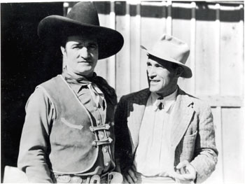 Tom Mix with noted German director/actor Luis Trenker (1892-1990).