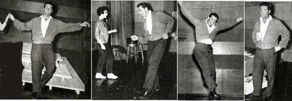 "Look! James ""Maverick"" Garner takes to the dance floor. In the last photo he seems to be saying, ""Okay, so I got a little carried away. Who cares. It was fun being Fred Astaire for a while."" (Thanx to Terry Cutts.)"