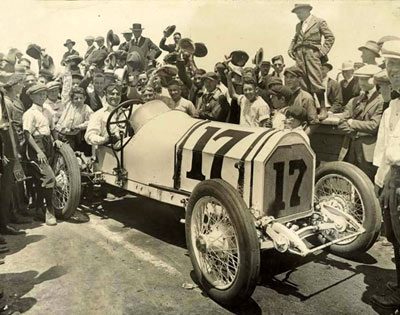 Tom Mix at Legion Ascot Speedway which opened in 1924. Following several deadly crashes, the Speedway's glory years ended in 1936 when two drivers were killed in a crash. (Photo courtesy Bobby Copeland.)