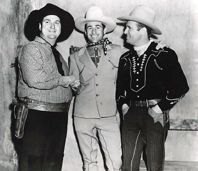 Smiley Burnette, Montie Montana, Gene Autry. Early to mid-'40s? (Thanx to Bobby Copeland.)