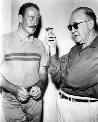 A conversation between John Wayne and director John Ford. (Thanx to Bobby Copeland.)