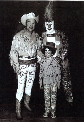 Roy with Happy the Clown (Dave Twomey).
