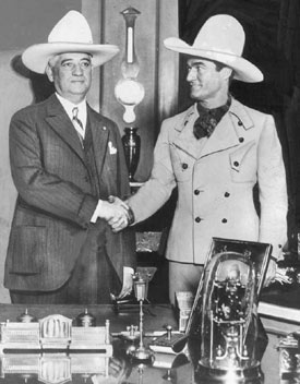 Tom Mix and Pittsburgh Mayor Charles H. Klein (1926--1933).