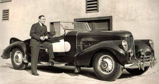 Cars of the Stars: Buck Jones with his 1933 Packard Special. (Thanx to Jerry Baumann.)