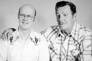 Author Alan Barbour with Rod Cameron at a 1976 Atlanta Western Film convention.