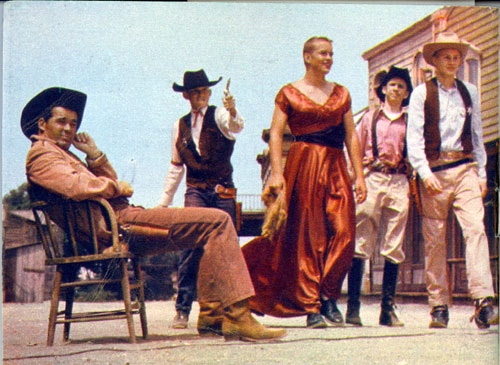 "The members of the Stage Crew of Henry E. Huntington Intermediate School in San Marino, CA, figured they'd seen enough westerns to make one and did just that. The 1959 epic, ""Gunsmog"", was supervised by James Garner, star of Warner Bros.' ""Maverick""."