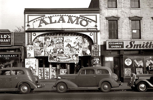 Oh for the good old days! The Alamo Theatre in Washington, D.C., in 1937. (Thanx to Bill Sasser.)