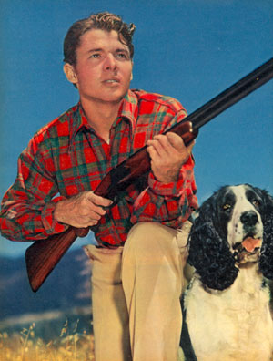 Skeet shooting with his dog was one of Audie Murphy's favorite pastimes.